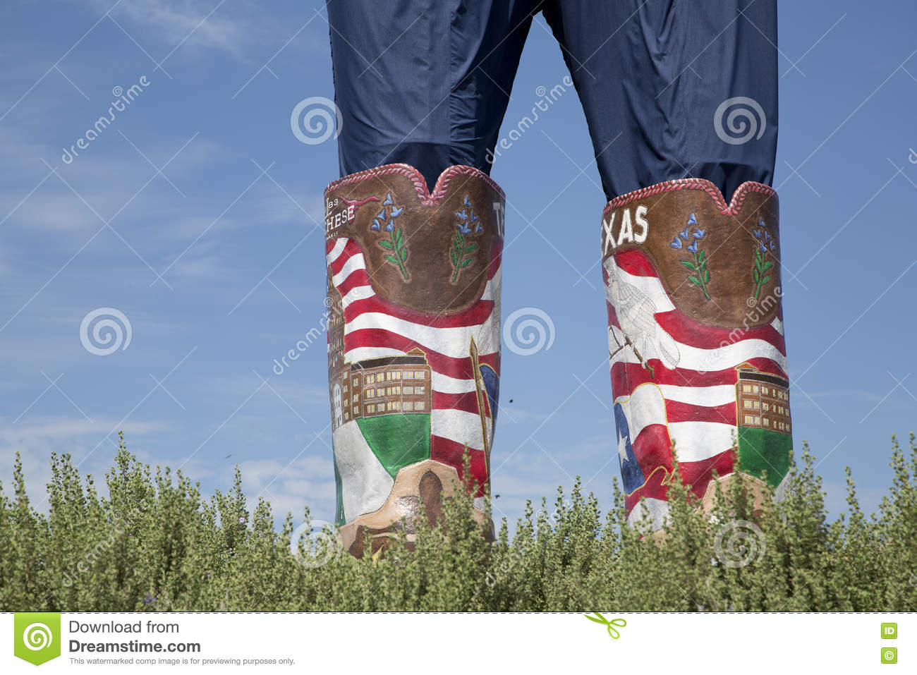 Big Tex boots at State Fair of Texas