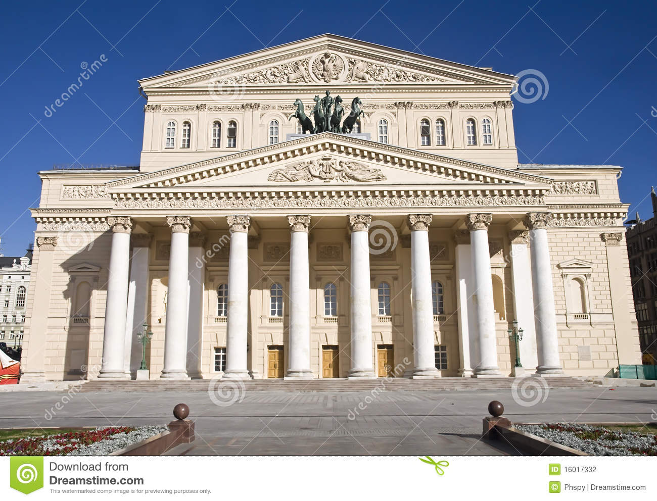 big view photography. Big Theater In Moscow, Russia View Photography
