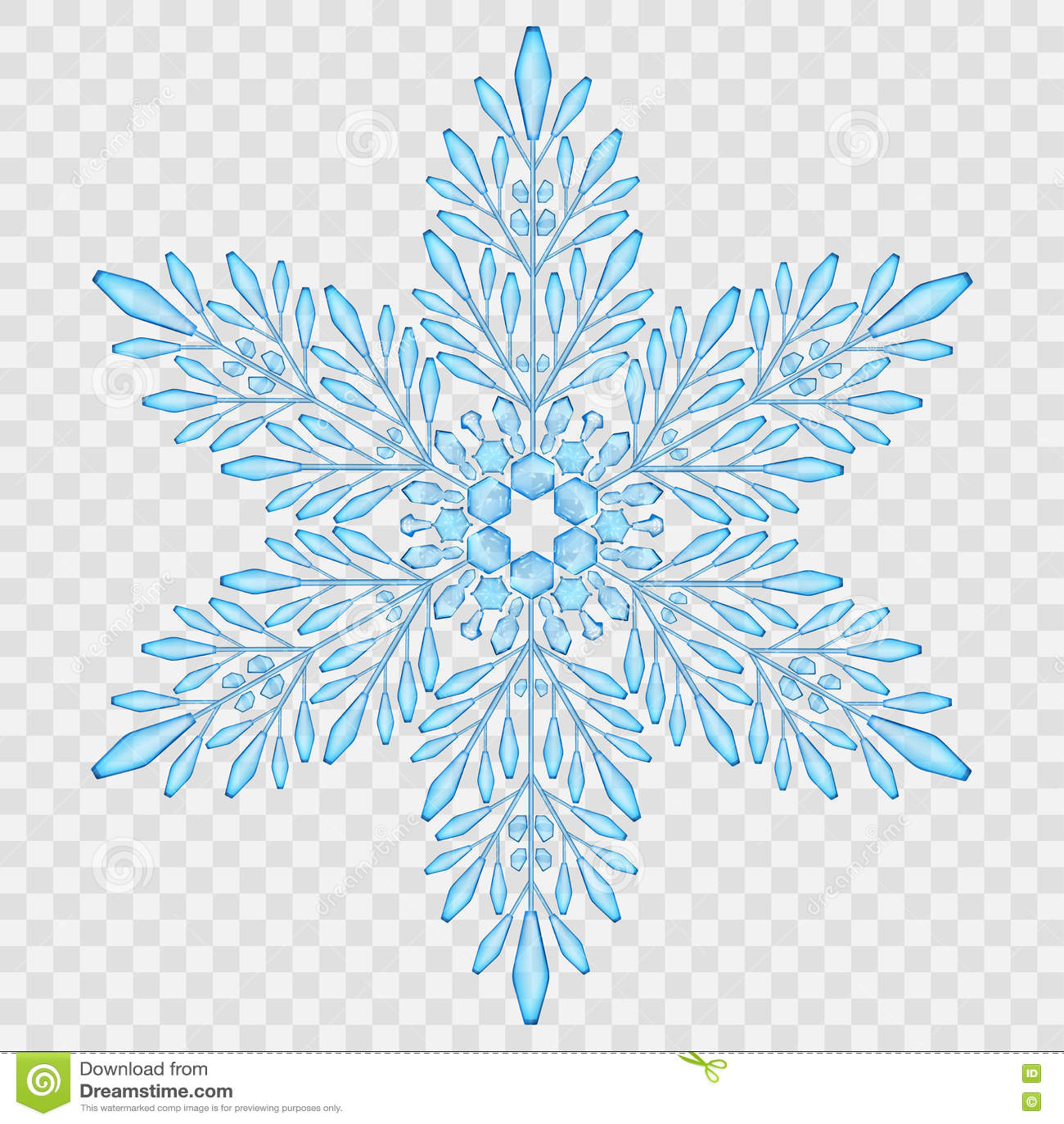 Blue snowflake transparent background pixshark