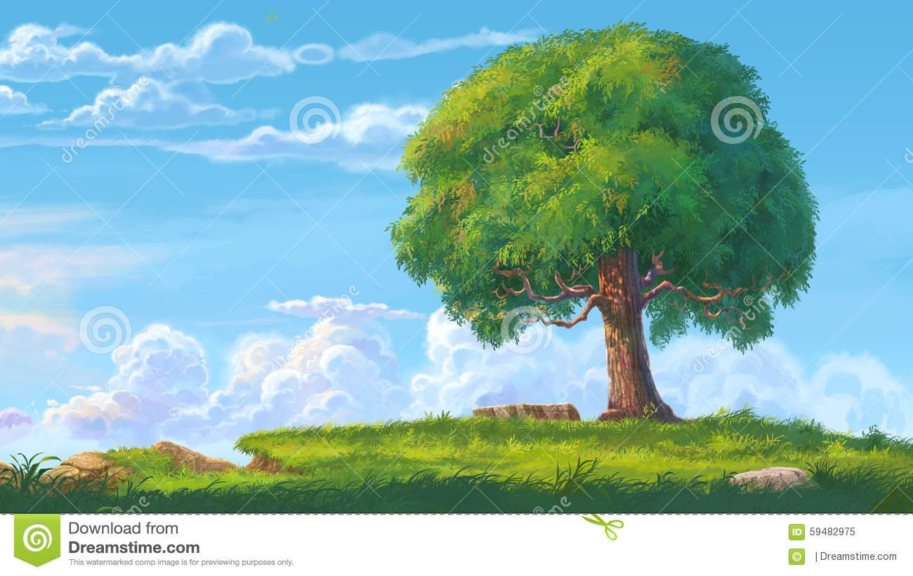 Big Tree Stock Illustration - Image: 59482975