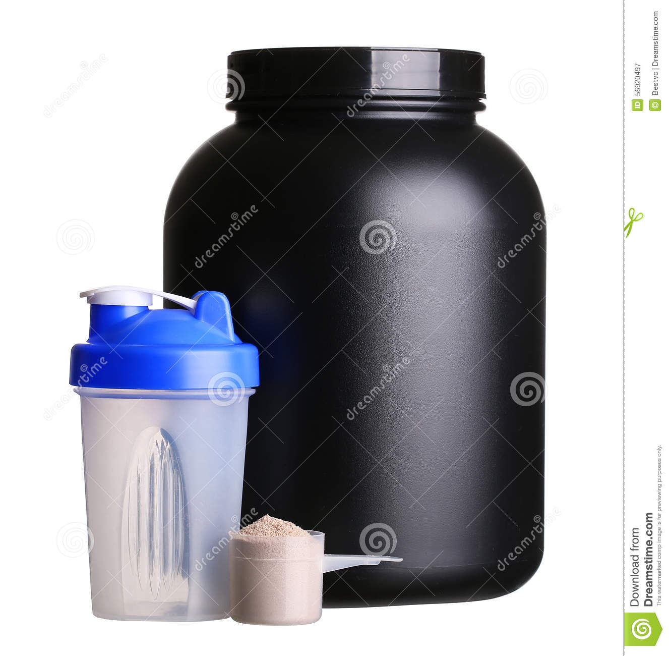 Protein Shaker Net: Big Tub Of Whey Protein With Shaker And Cup Of Protein