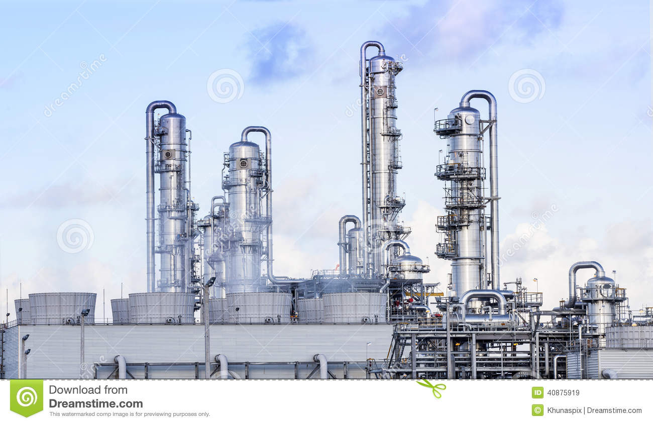 big tube in refinery petrochemical plant in heavy industry estate