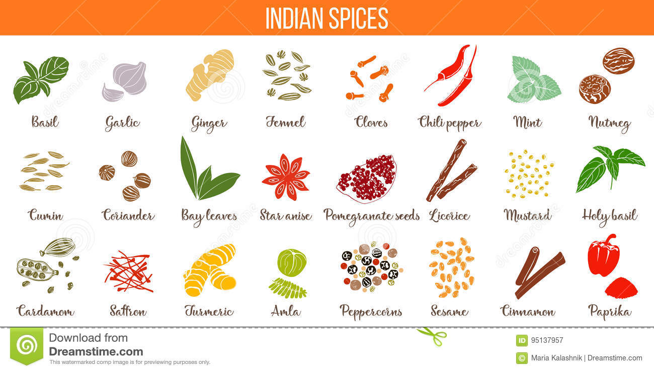 Big Vector Set Of Popular Culinary Spices Silhouettes