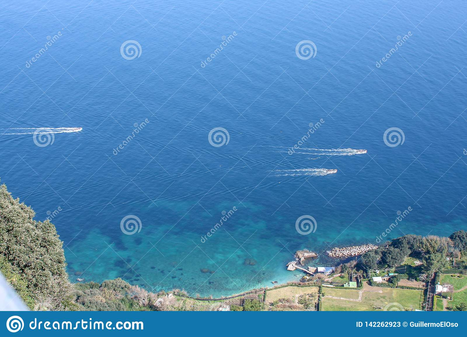 Big view over the sea of Capri
