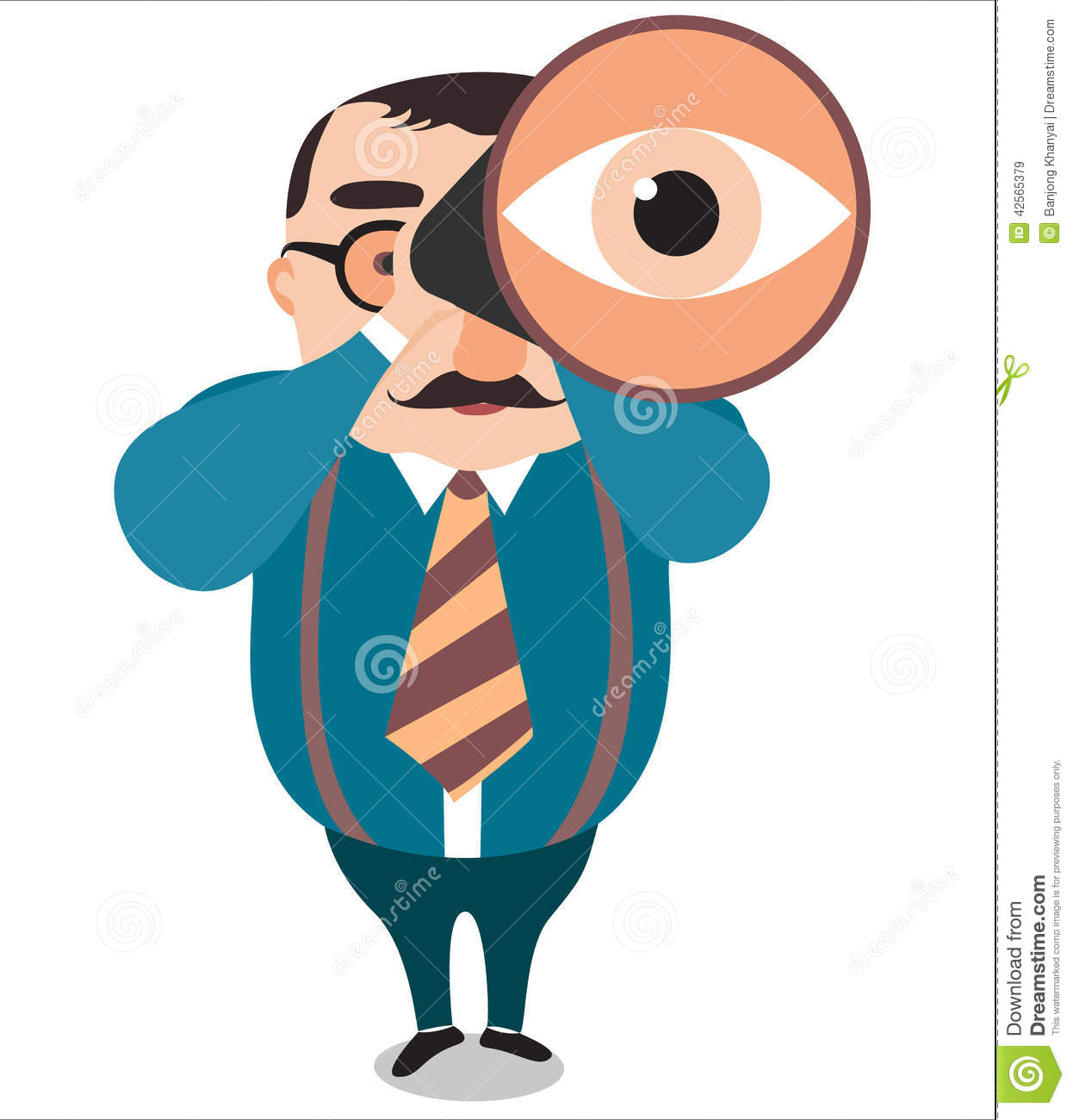 Big Vision Of Leader Vector Stock Image 42565379