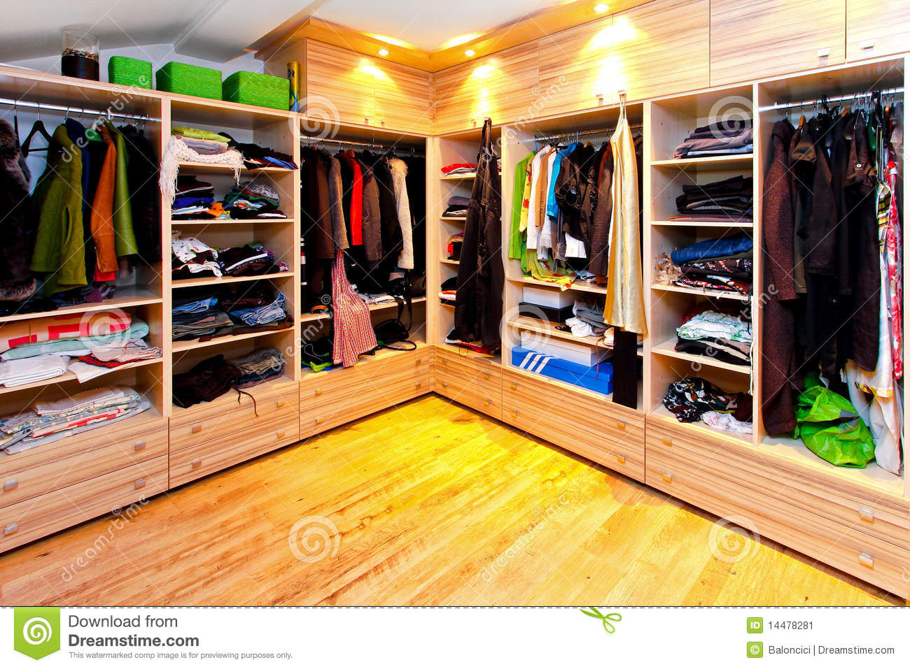 Big Wardrobe Stock Image Image Of Design Spacious Built