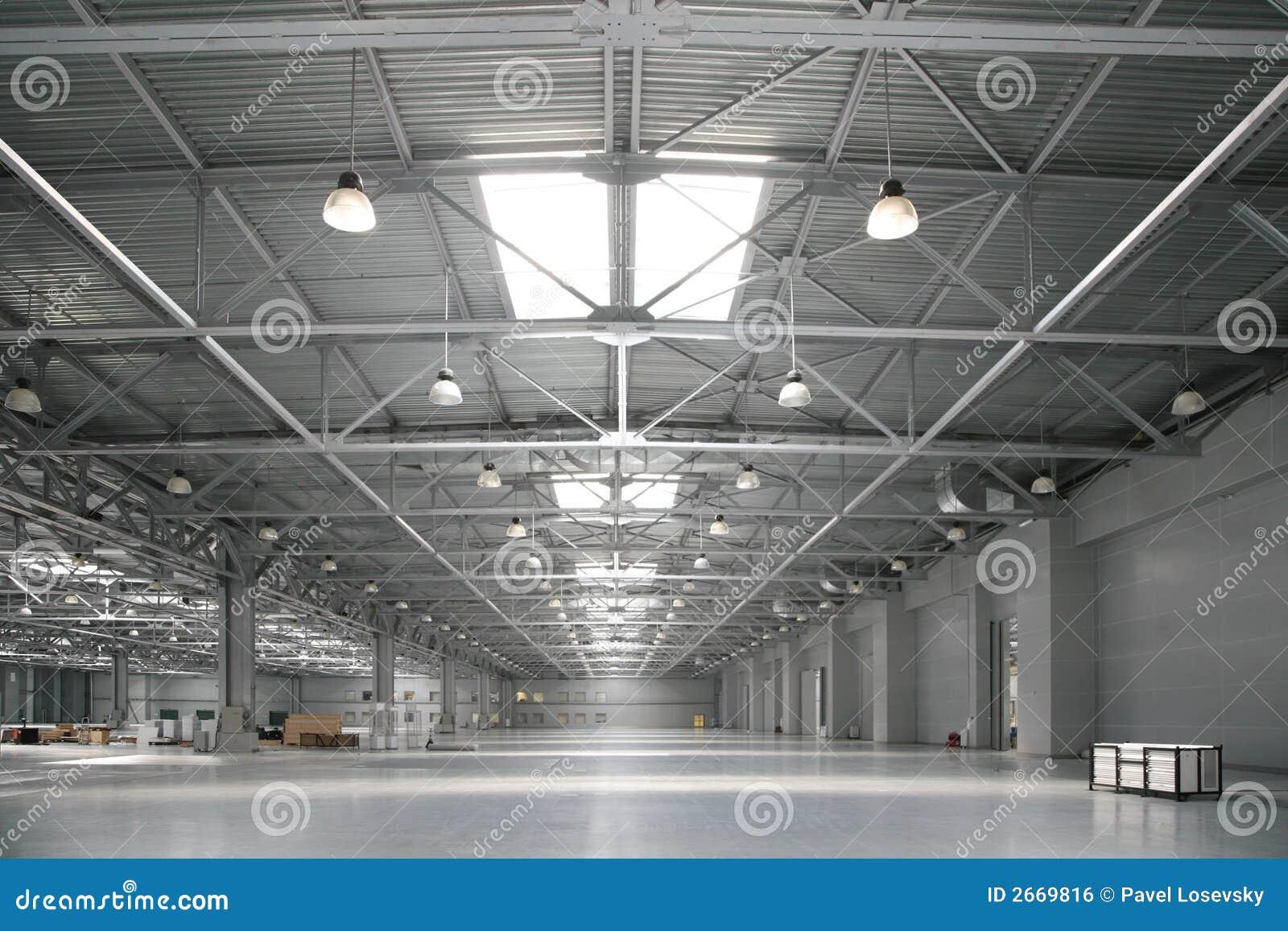 Big Warehouse Stock Photo Image Of Wall Indoors