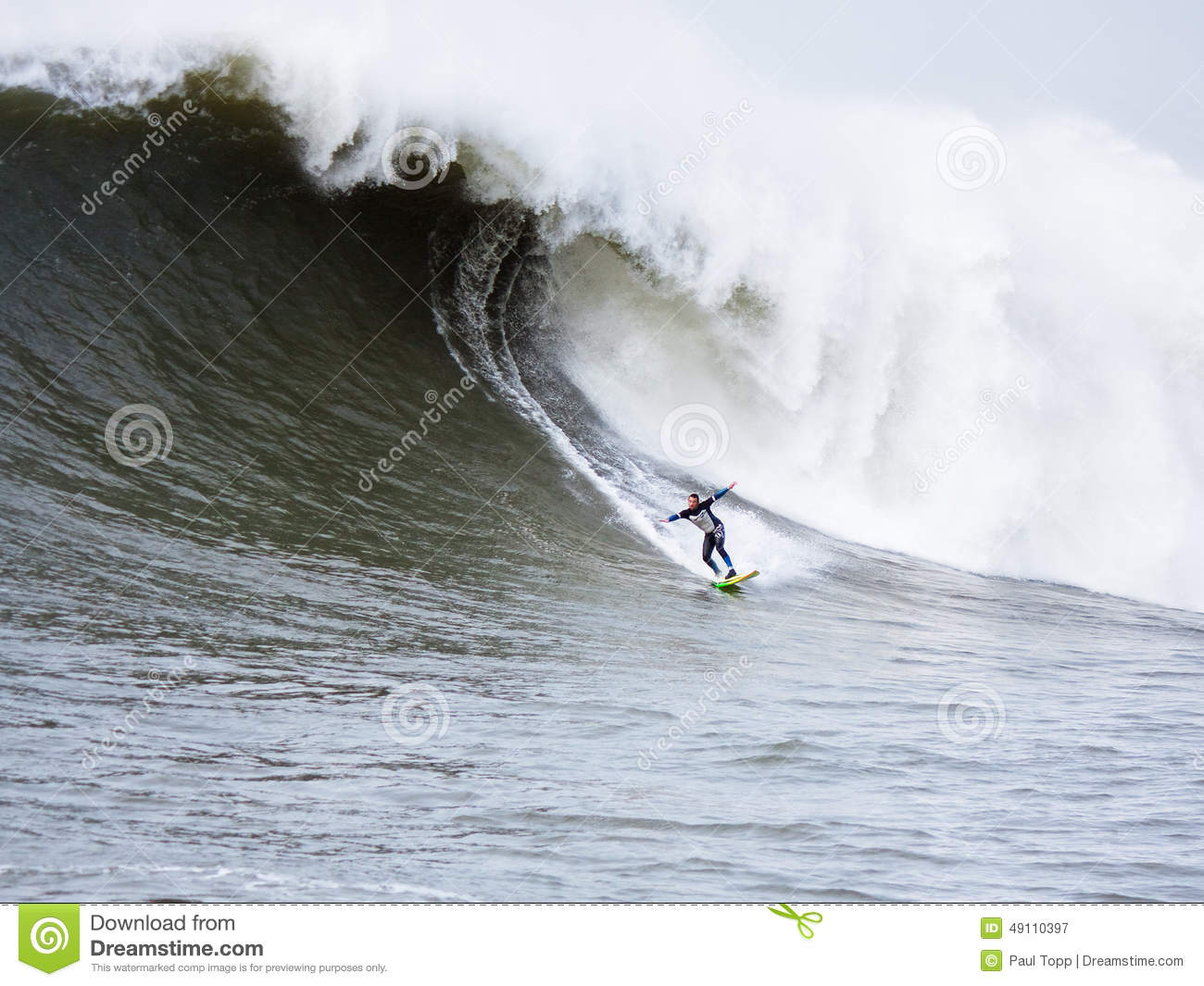 Big Wave Surfer Anthony Tashnick Surfing Mavericks