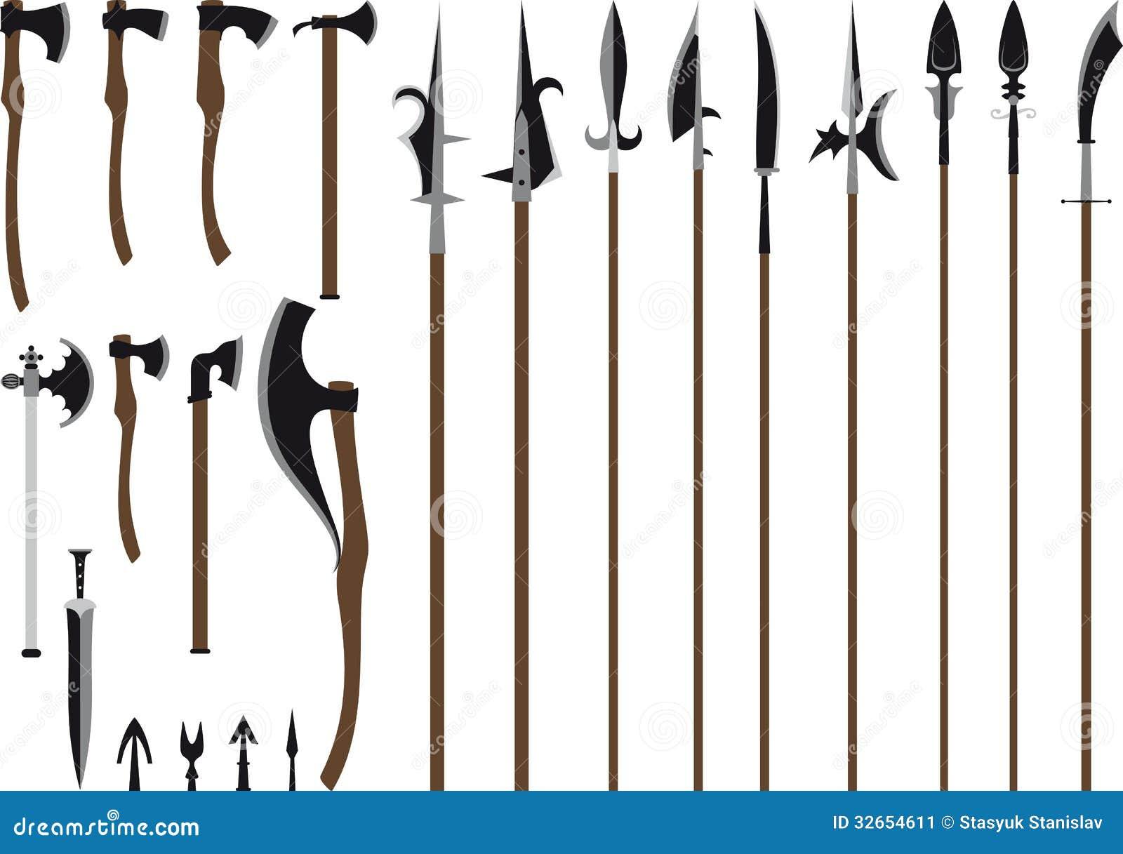 Cool sword weapon big weapon set