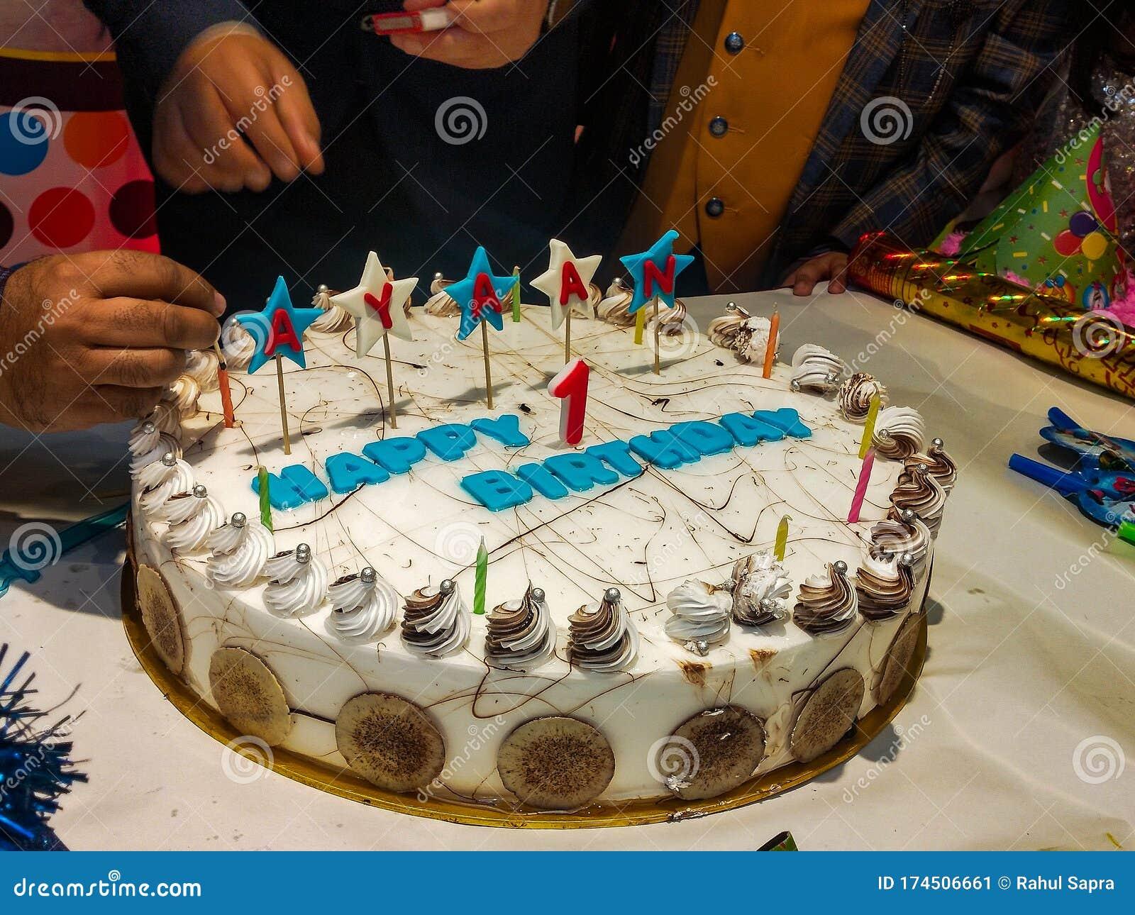 Pleasing Big White Cake For Celebrating Baby Boy Happy Birthday With Funny Birthday Cards Online Elaedamsfinfo