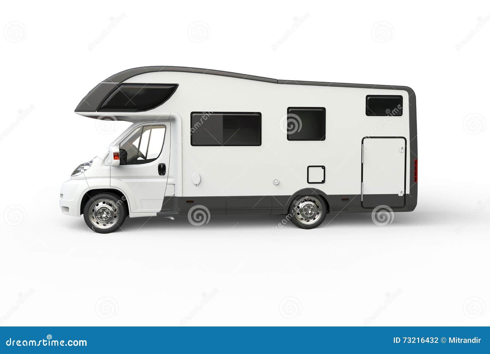 Big White Camper Van