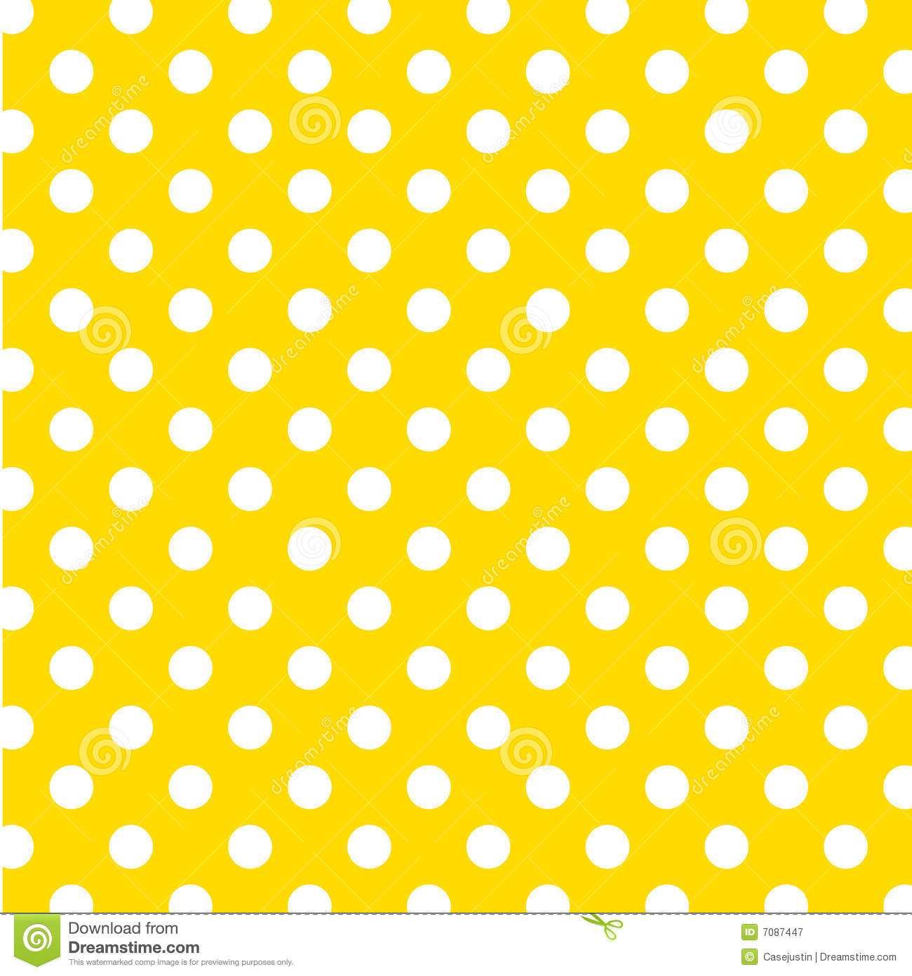 156dad389d9 Seamless pattern of large white polka dots on a bright yellow background  for arts, crafts, fabrics, decorating, albums and scrap books.