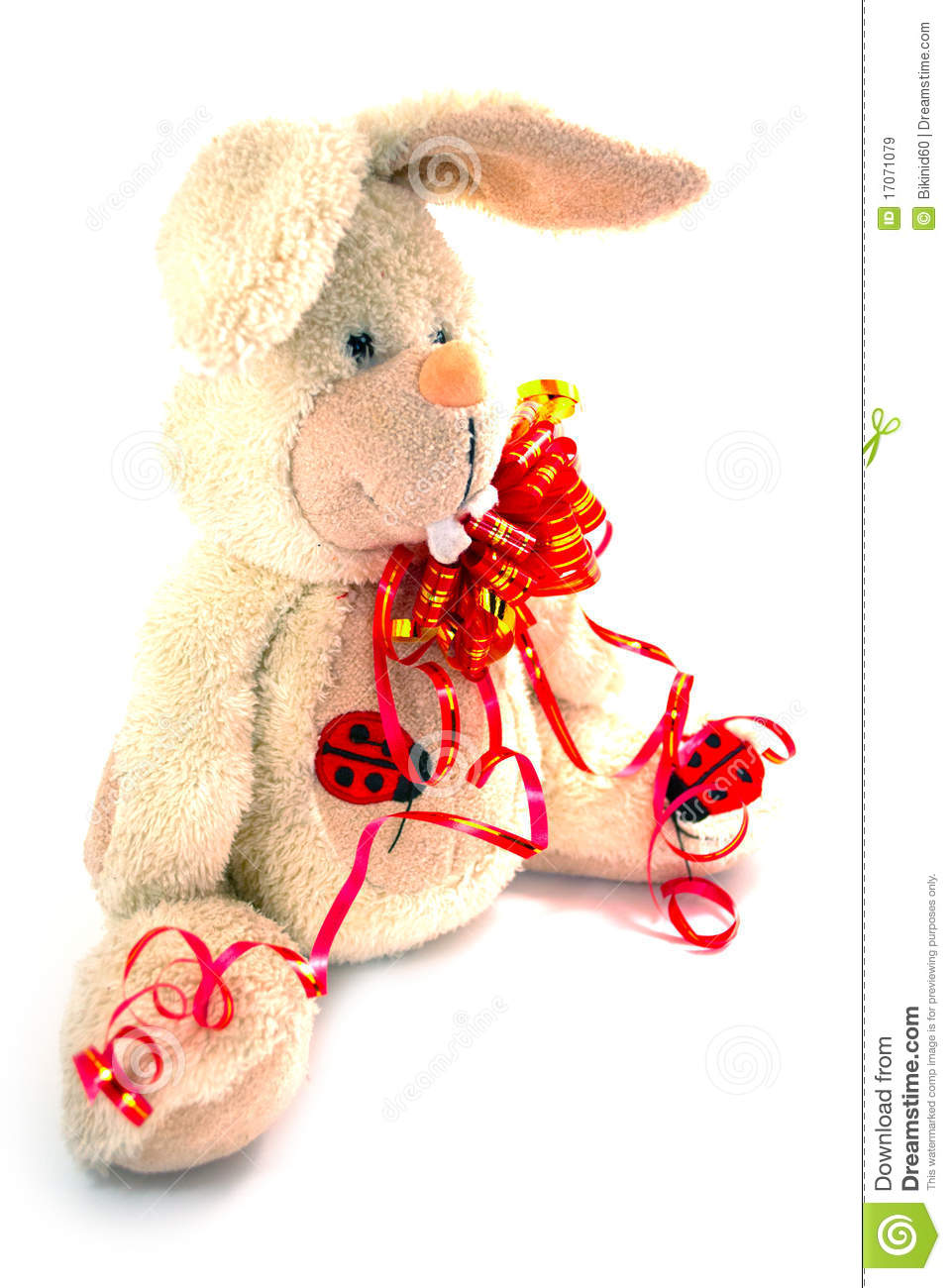 A Big White Rabbit Stock Image Image Of Rodent Doll 17071079
