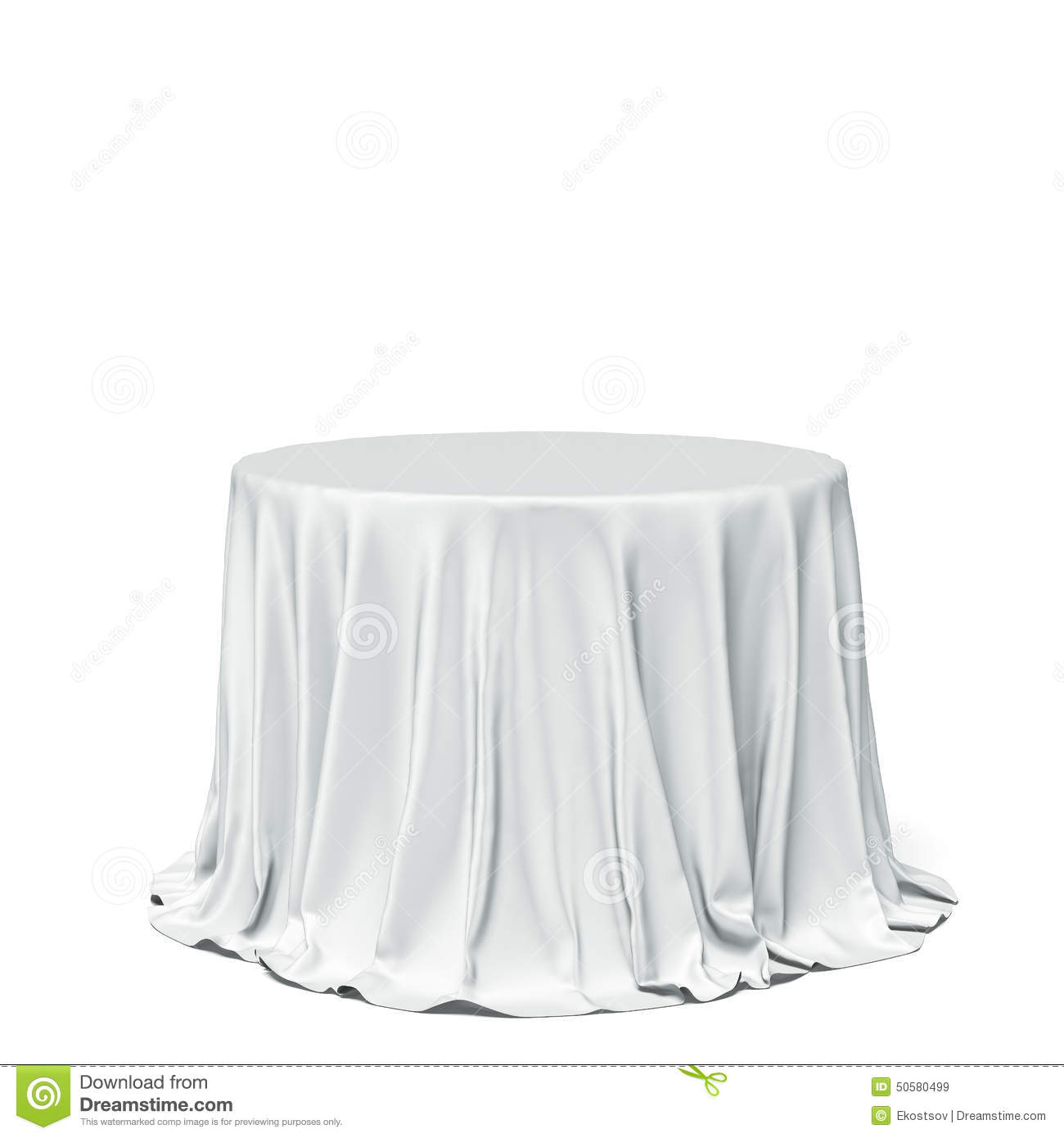 Table Cloth For Round Table Big White Round Table And Cloth Stock Photo Image 50580499