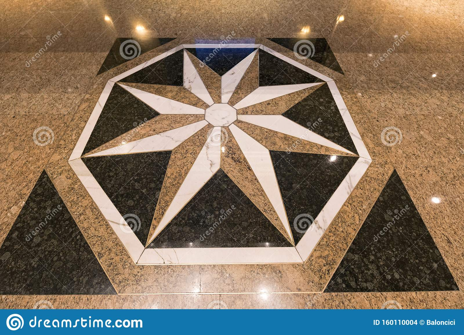 Marble Floor Star Stock Photo Image Of Kong Flooring 160110004