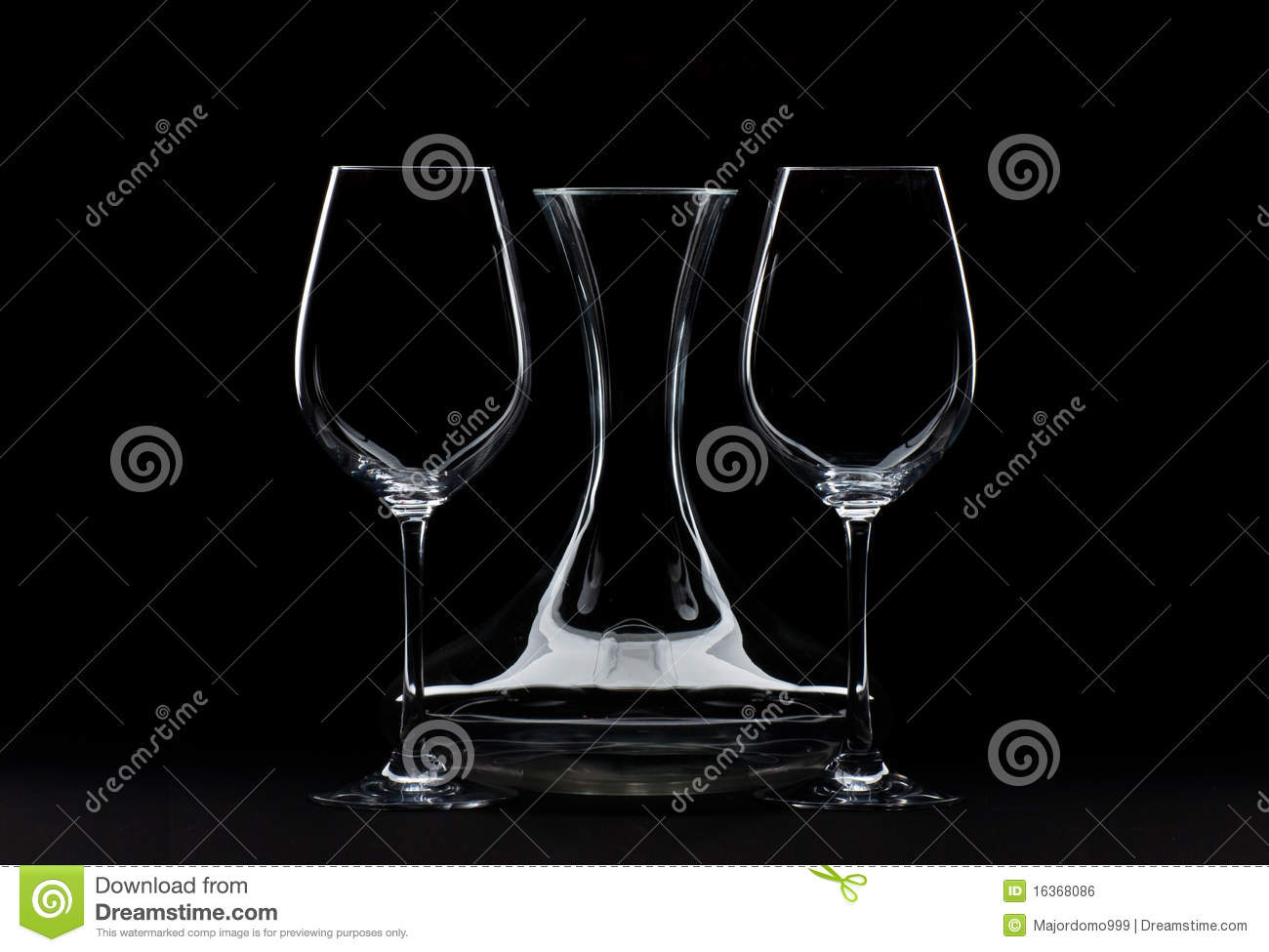 Big Wine Glasses and Decanter