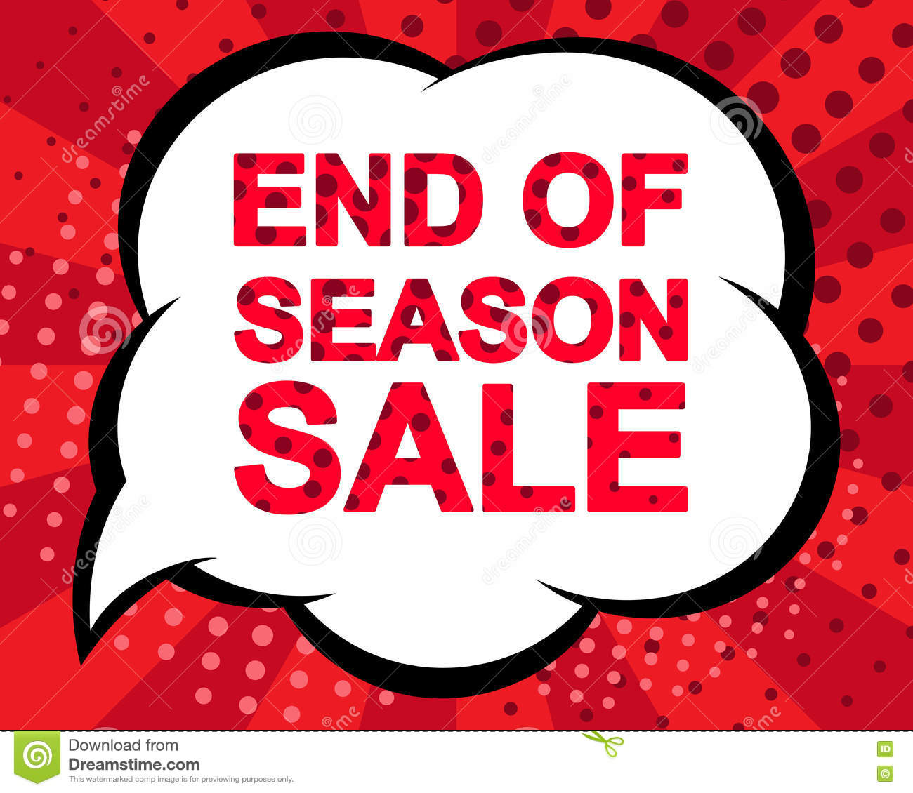 Sale: Big Winter Sale Poster With END OF SEASON SALE Text