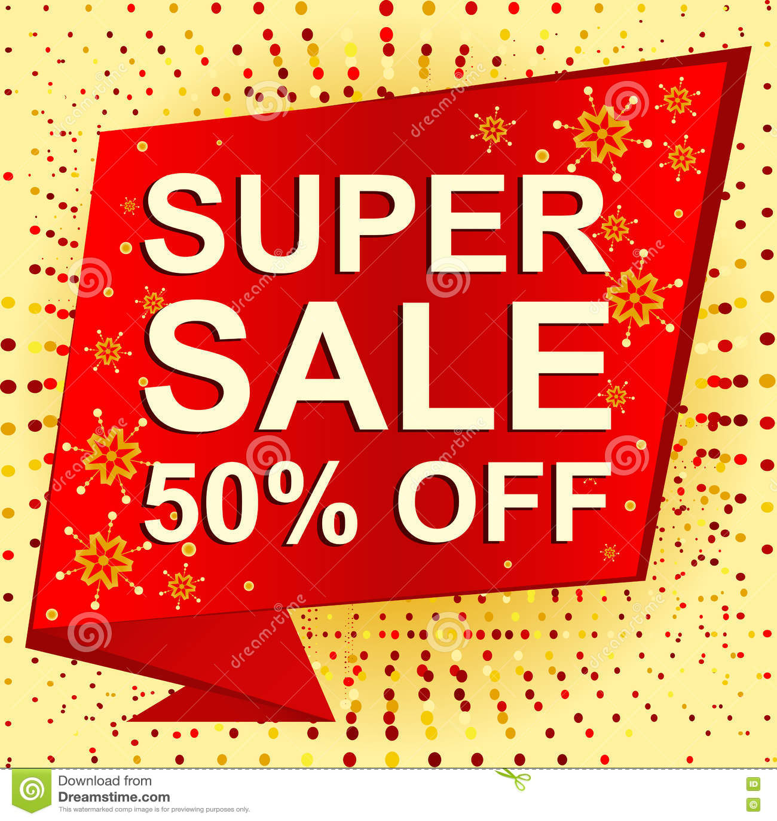 big christmas sale 50 percent off promotion banner vector illustration