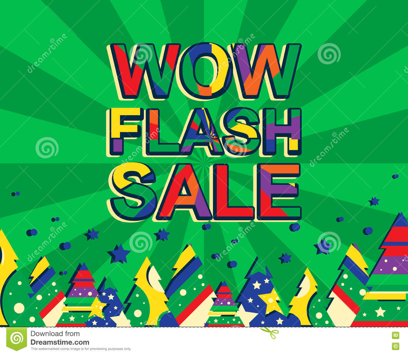 Big winter sale poster with wow flash sale text. Advertising.