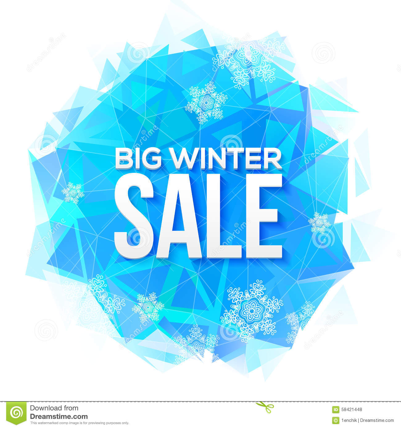 Winter Sale Banners Stencil Banners