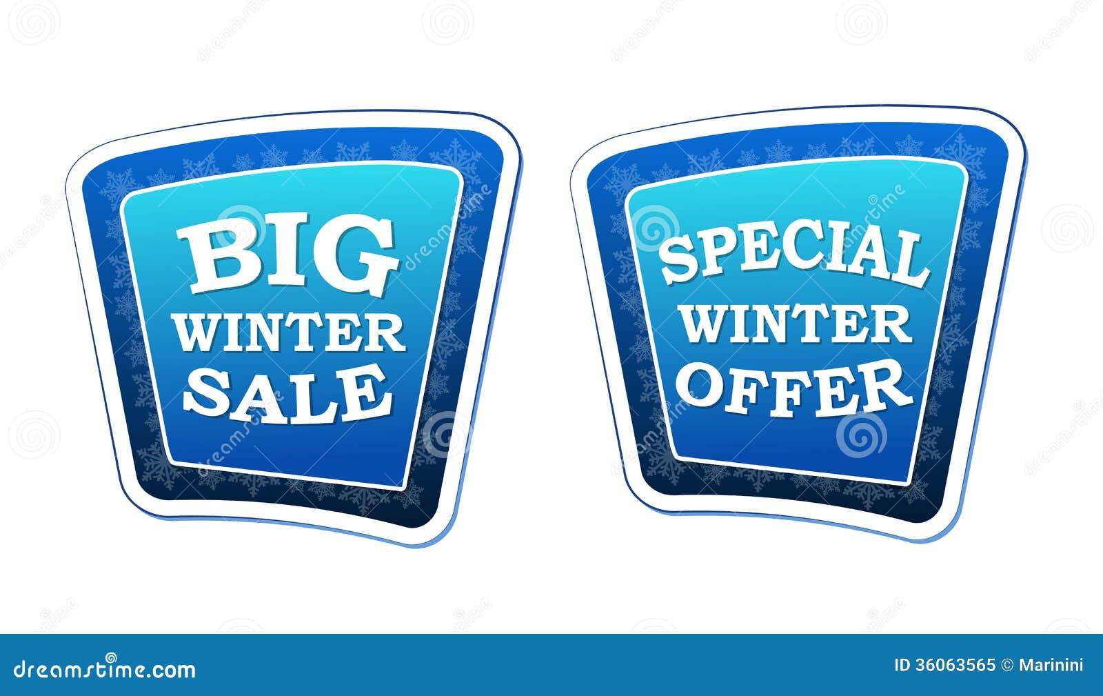 winter special sale cartoon vector