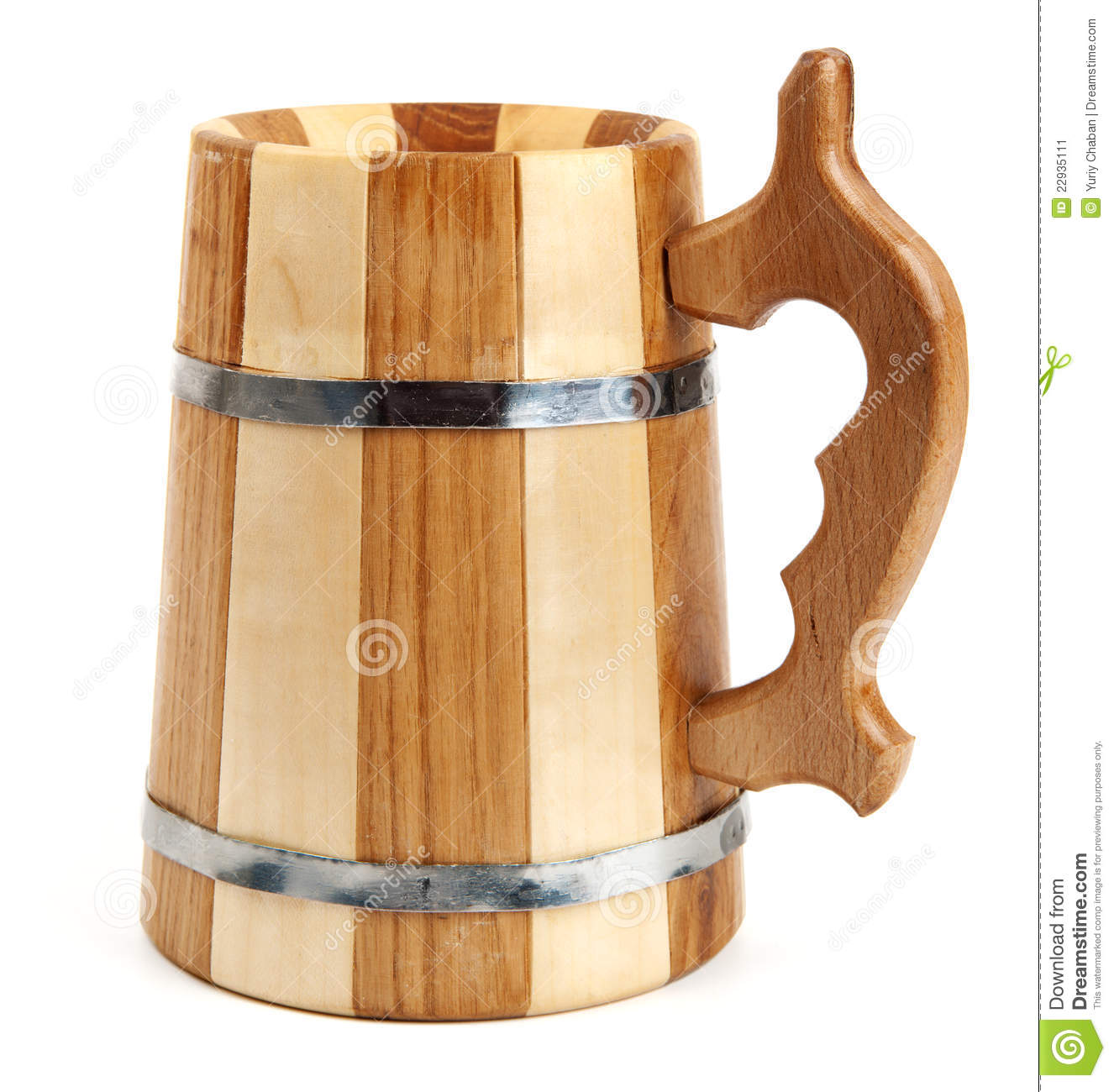 big wooden mug as barrel stock image image 22935111