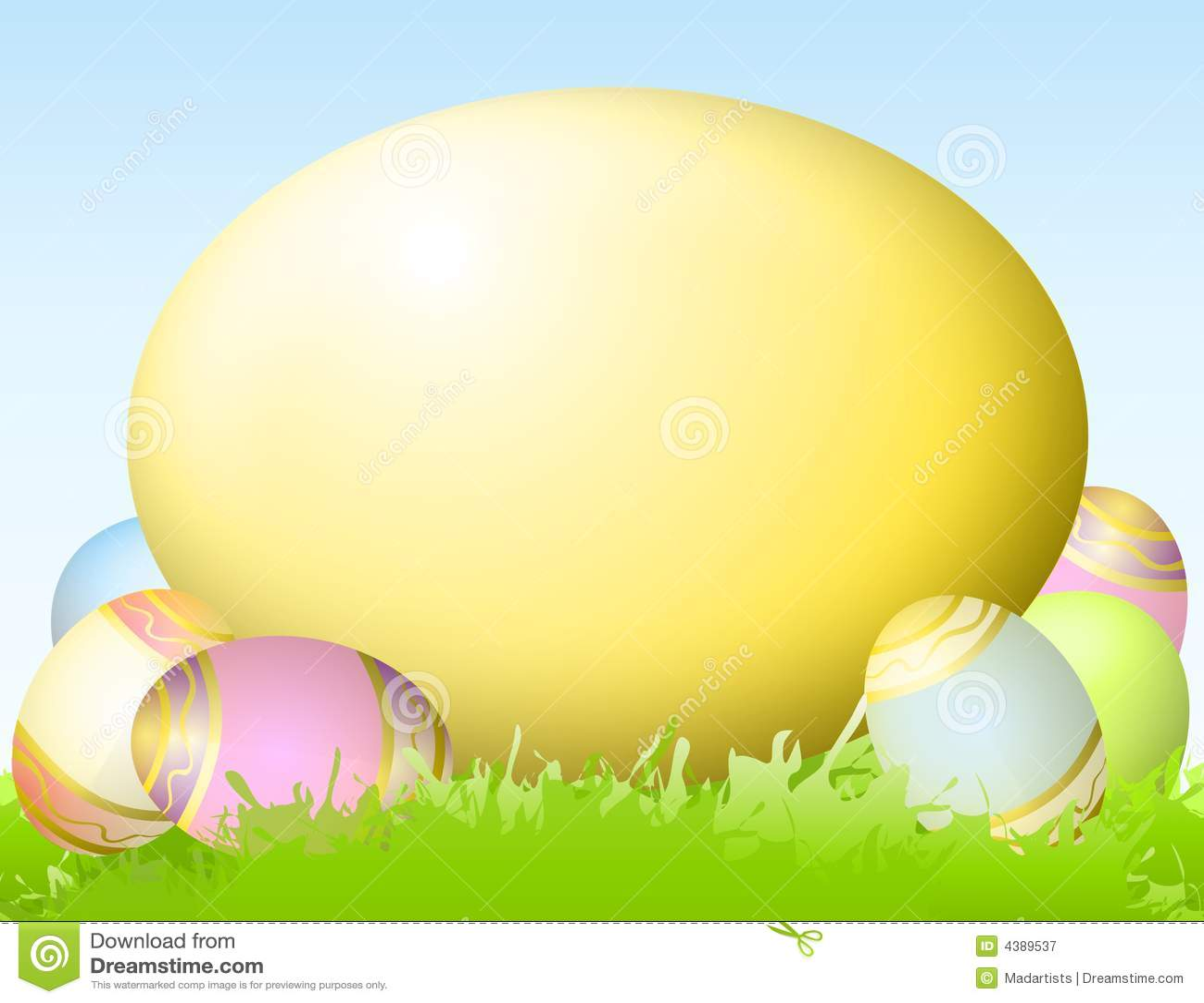 Big Yellow Easter Egg