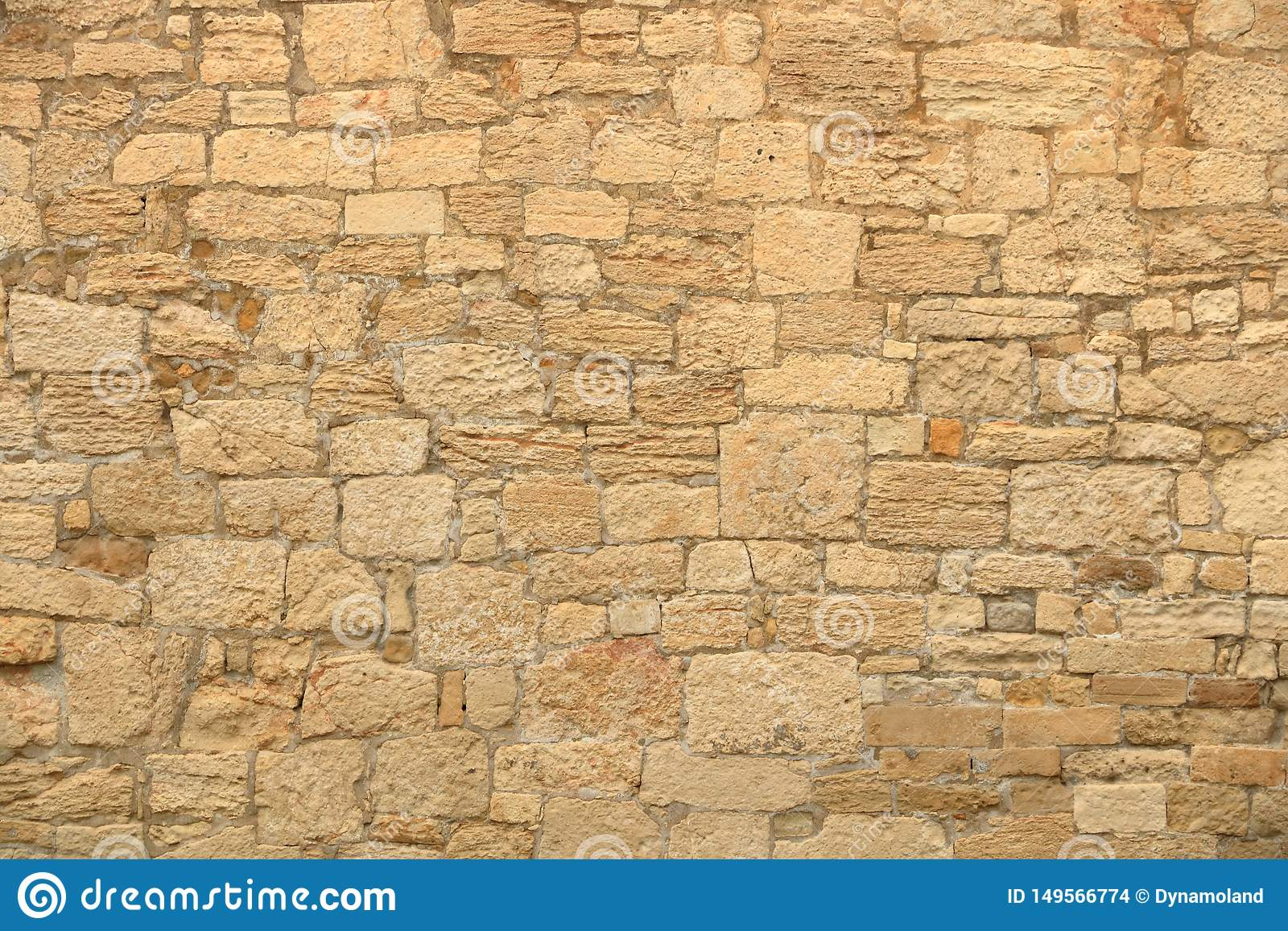 Big yellow wall from stone bricks