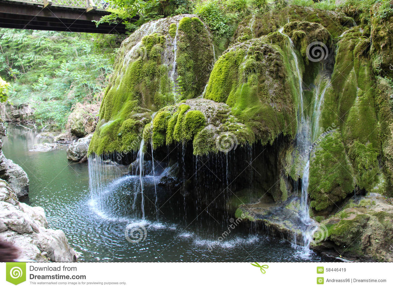 Bigar waterfall romania stock image image of north 58446419 - Most beautiful manors romania ...