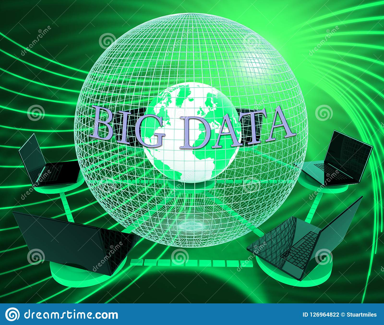 Bigdata Flow Stream Of Big Data 3d Illustration Stock Illustration Illustration Of Process Network 126964822