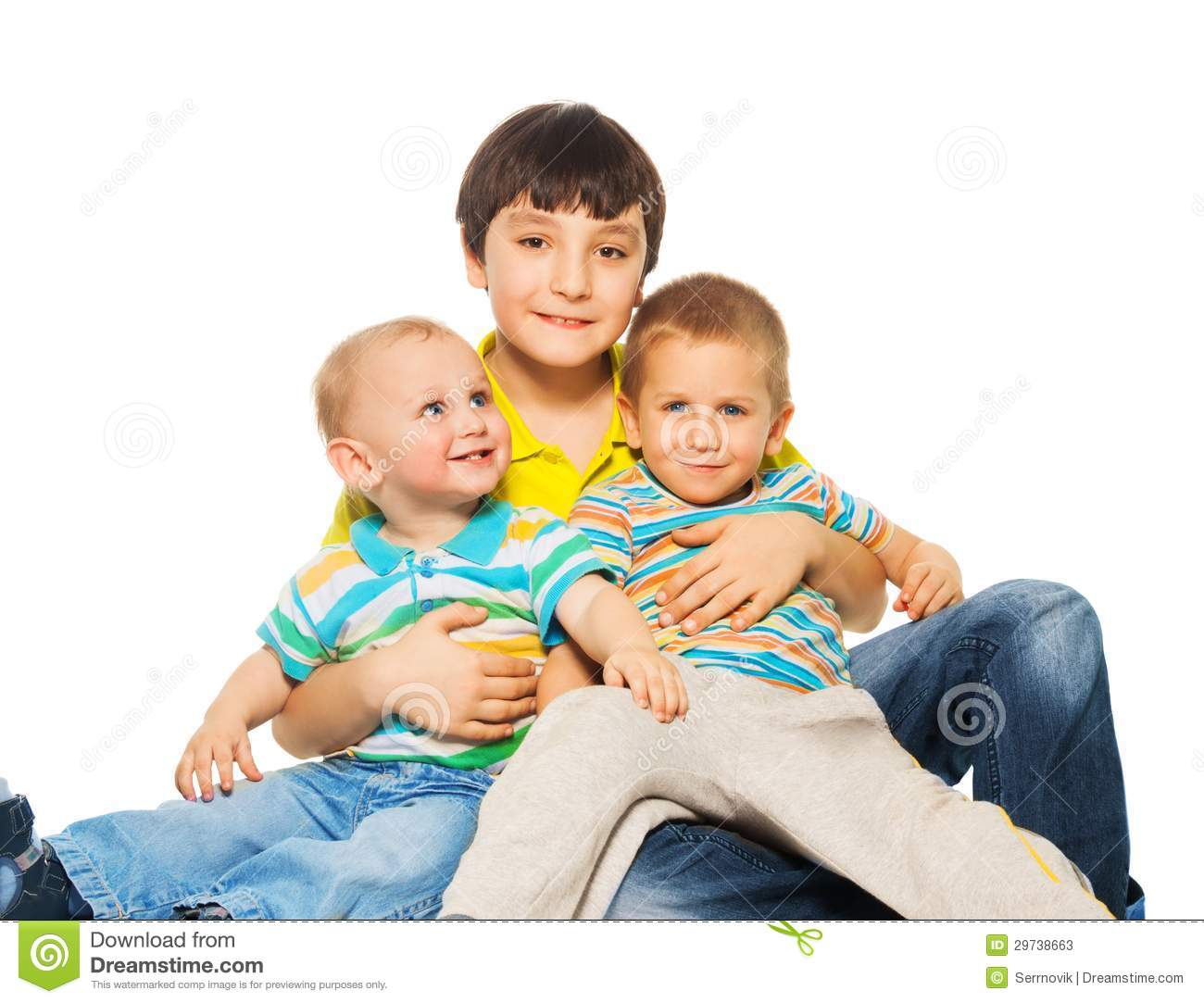 Bigger Brother With Younger Stock Image - Image Of Care, Family 29738663-7866