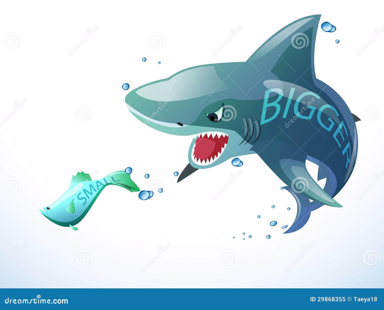 Shark eat small fish royalty free stock photo image for Dreaming of eating fish