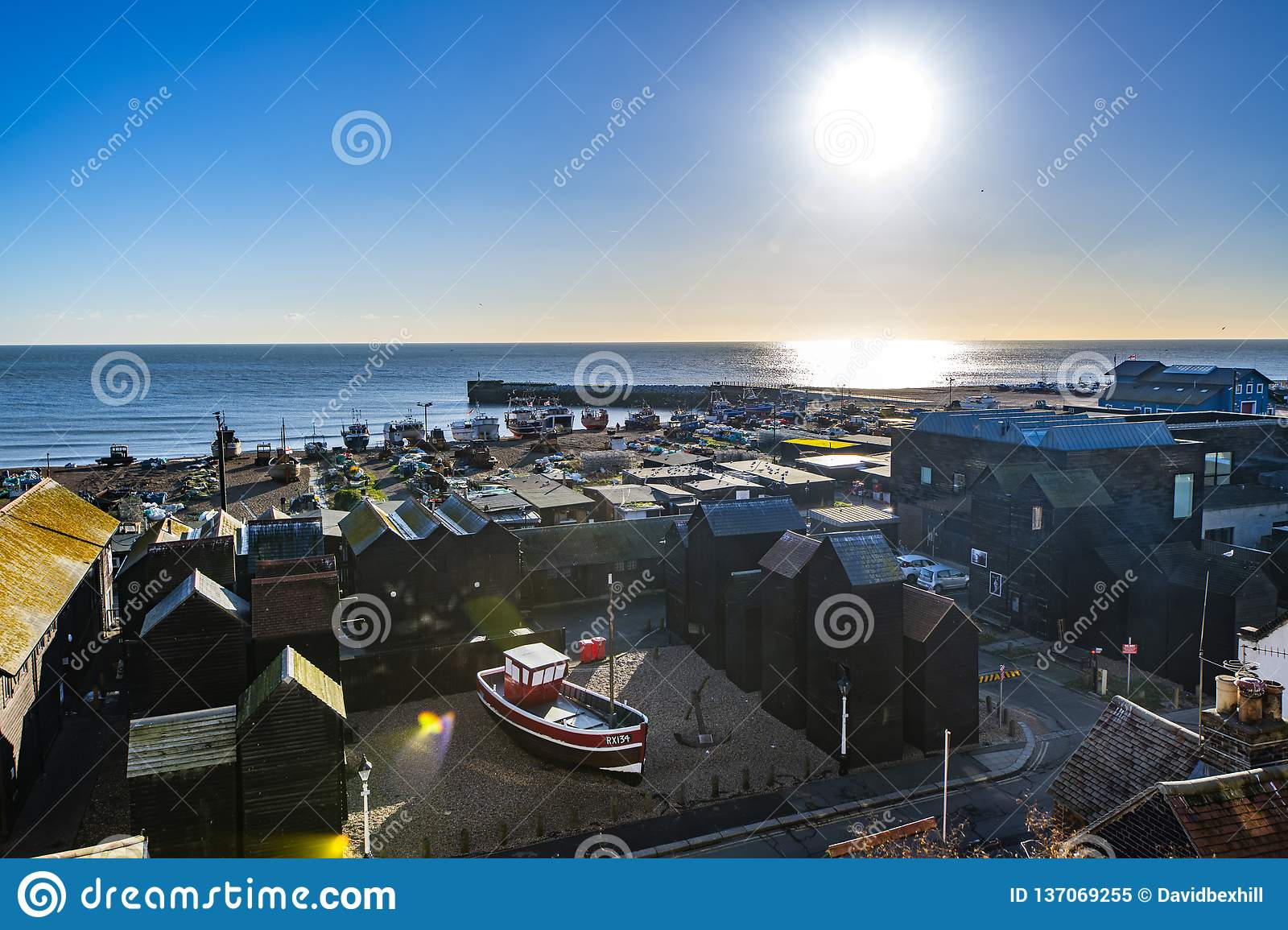 Hastings FIshing Quarter, in East Sussex, England