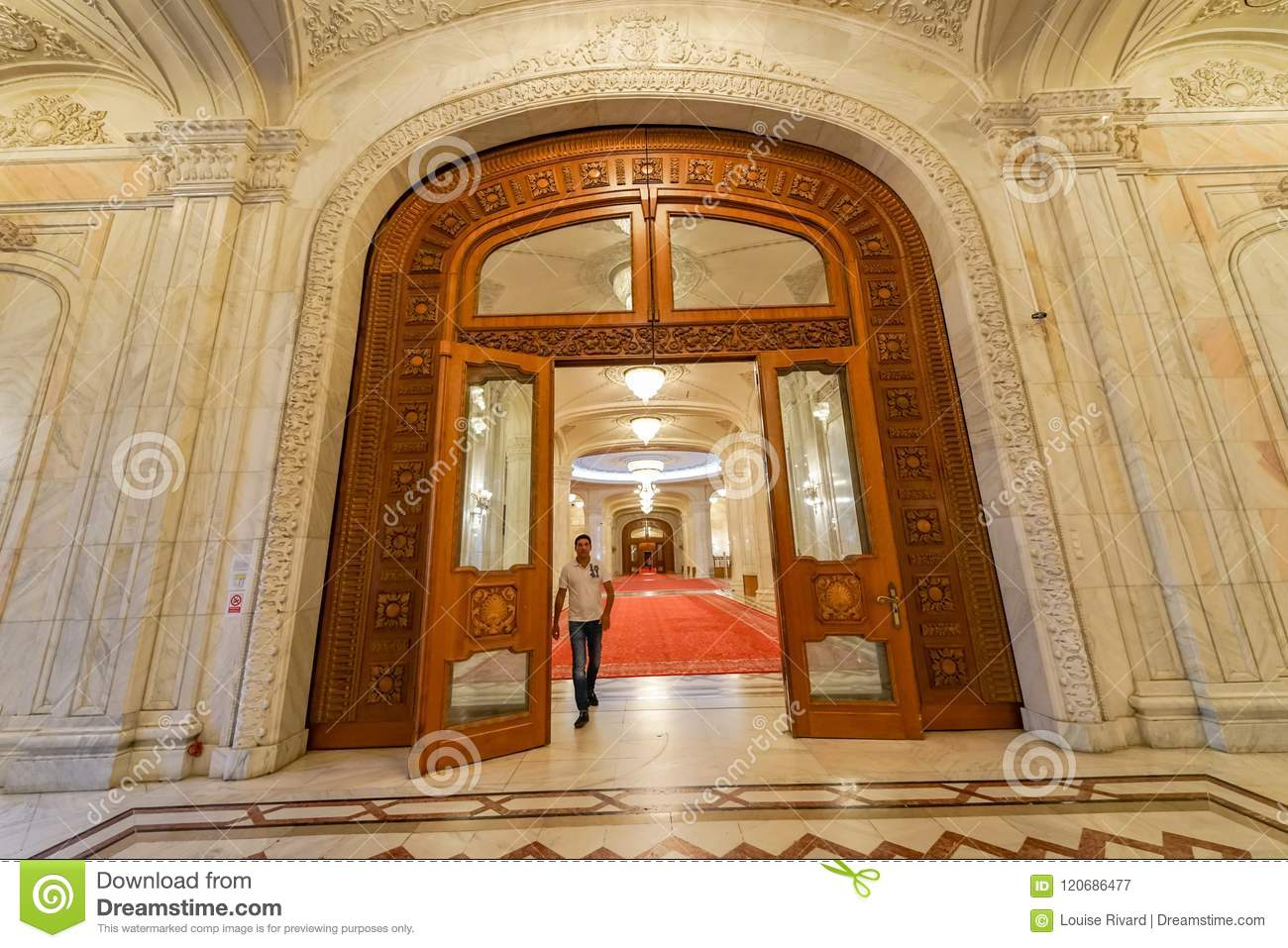 Monumental door for Ceausescu Palace