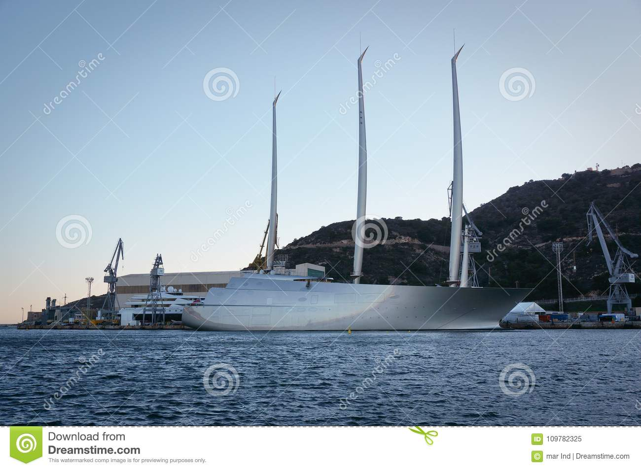The Biggest Sailing Yacht In The World Editorial Image Image Of