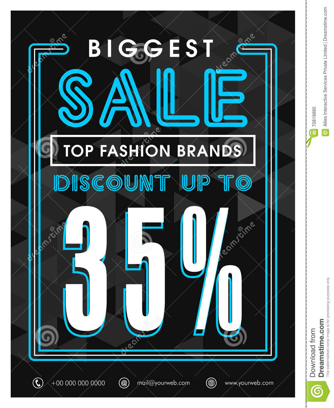 Biggest Sale Poster, Banner Or Flyer Design. Stock