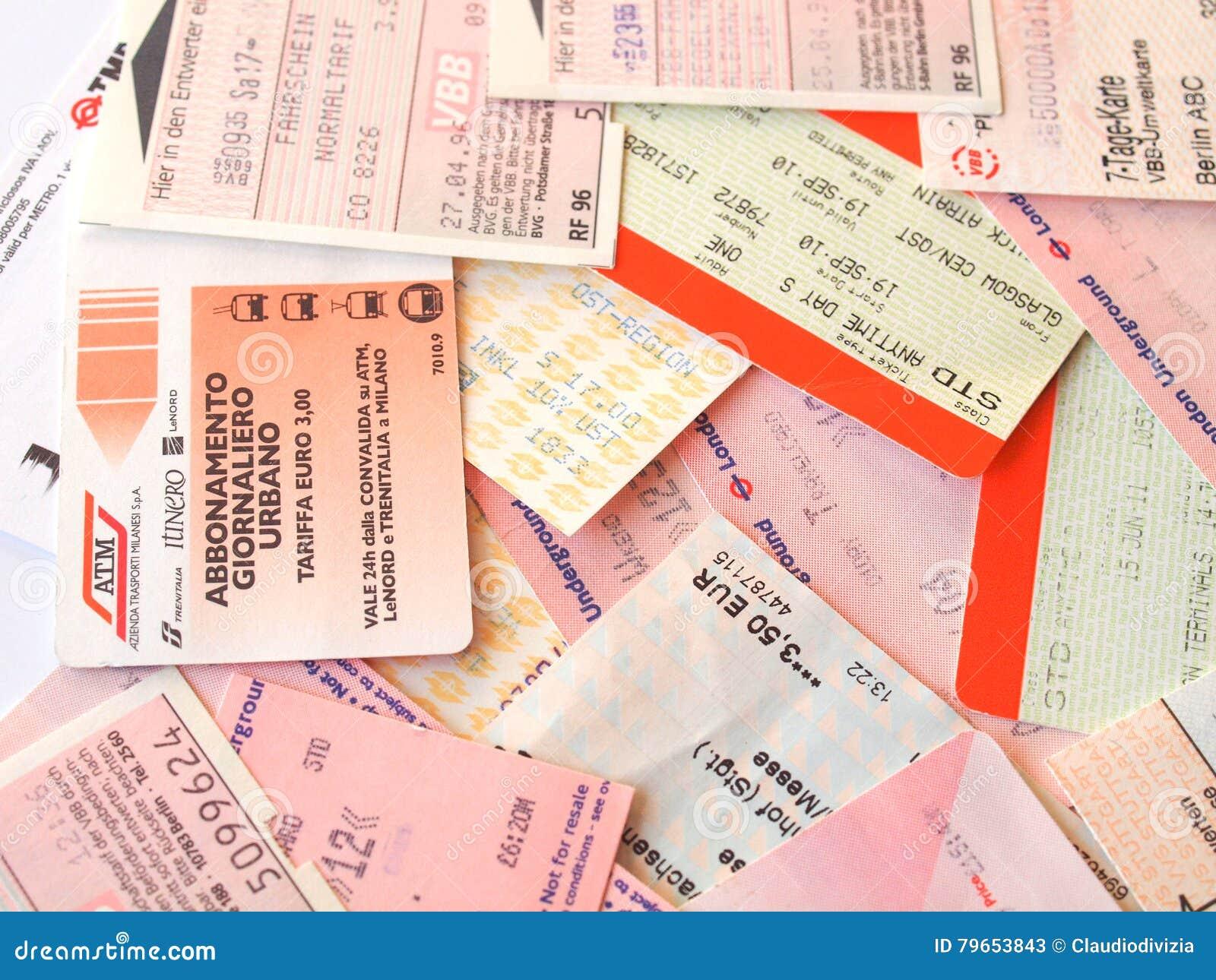 online store 846d6 c8d5d Biglietti Di Trasporto Pubblico Fotografia Stock Editoriale ...