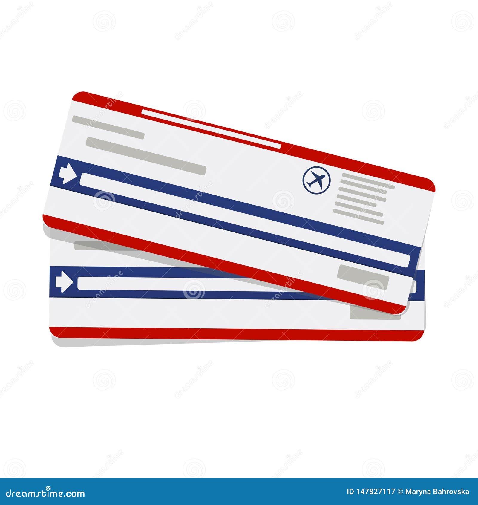 Biglietti moderni del passaggio di imbarco di viaggio di linea aerea due Modello di vettore