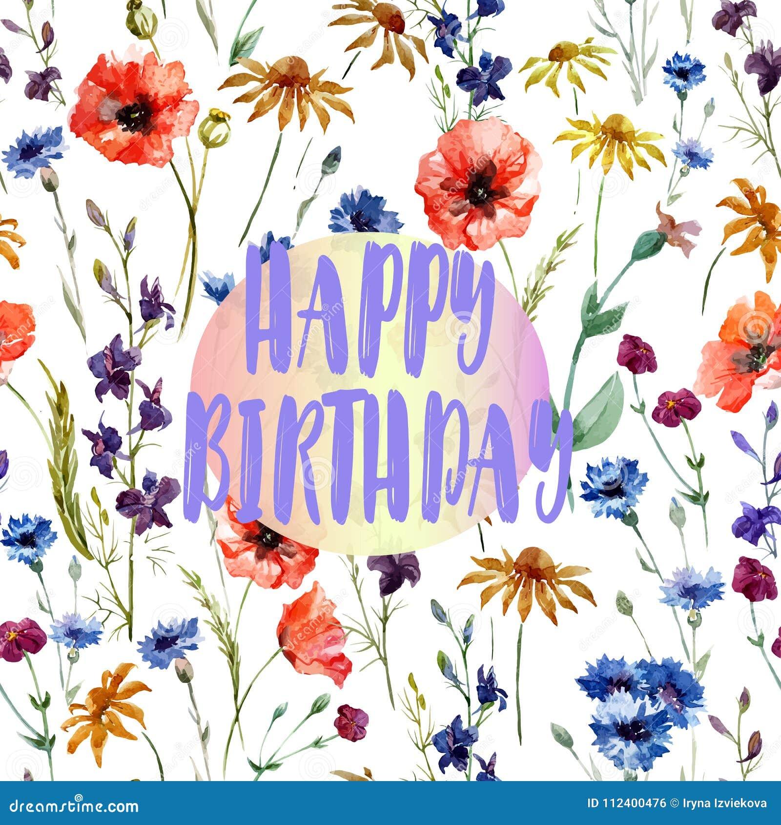 Biglietto Di Auguri Per Il Compleanno Bella Congratulazione