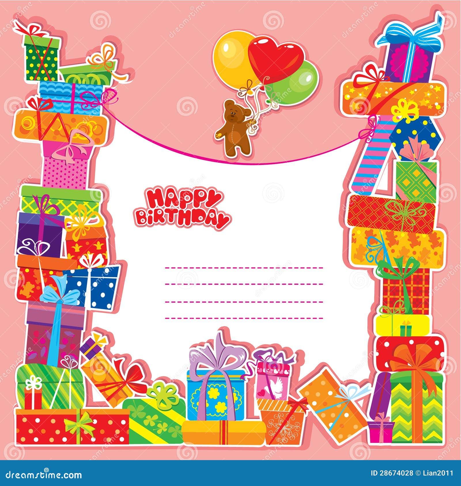 Conosciuto Biglietto Di Auguri Per Il Compleanno Del Bambino Con L  BE13