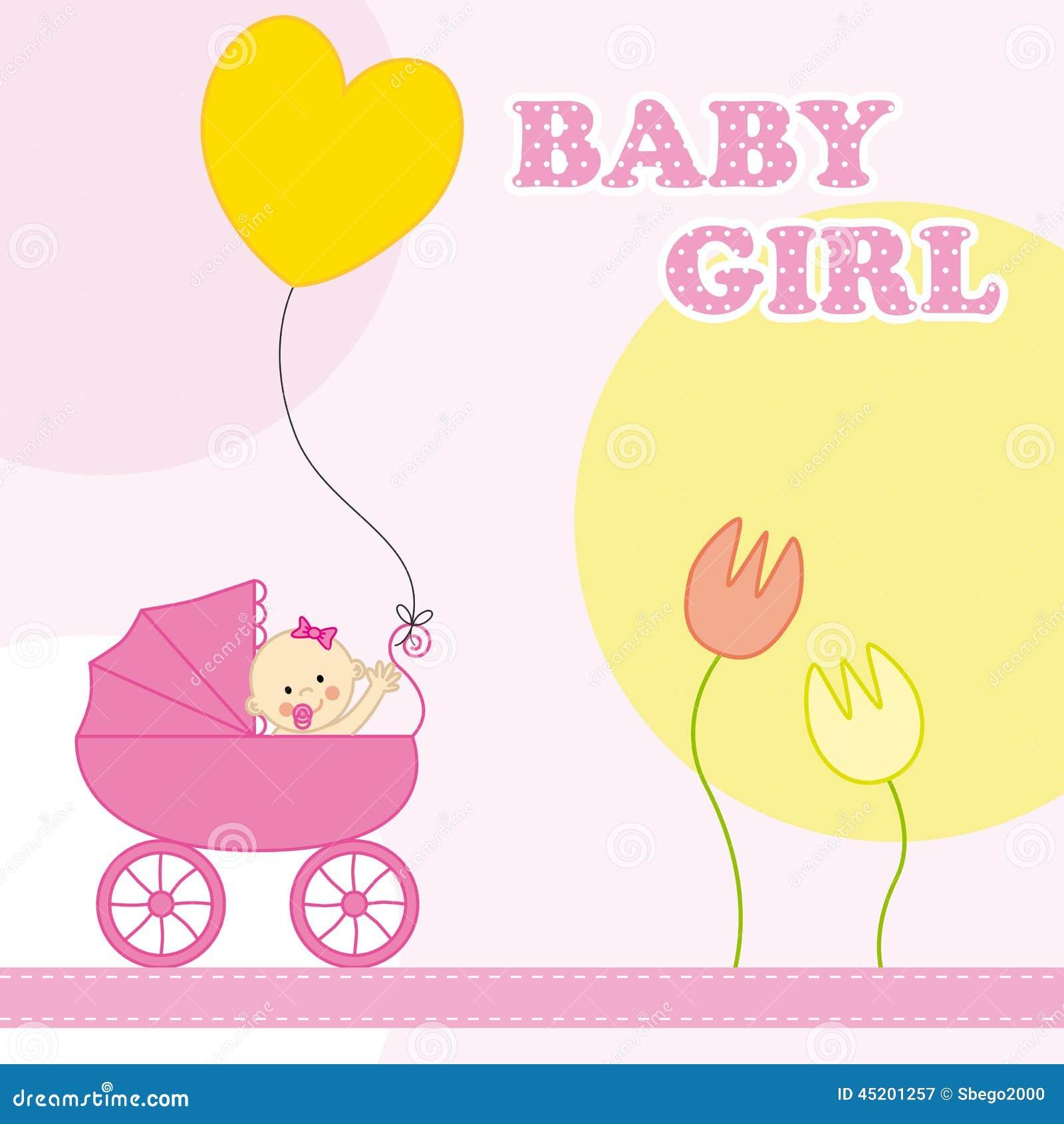 Estremamente Biglietto Di Auguri Per Il Compleanno Della Neonata Illustrazione  ZB29