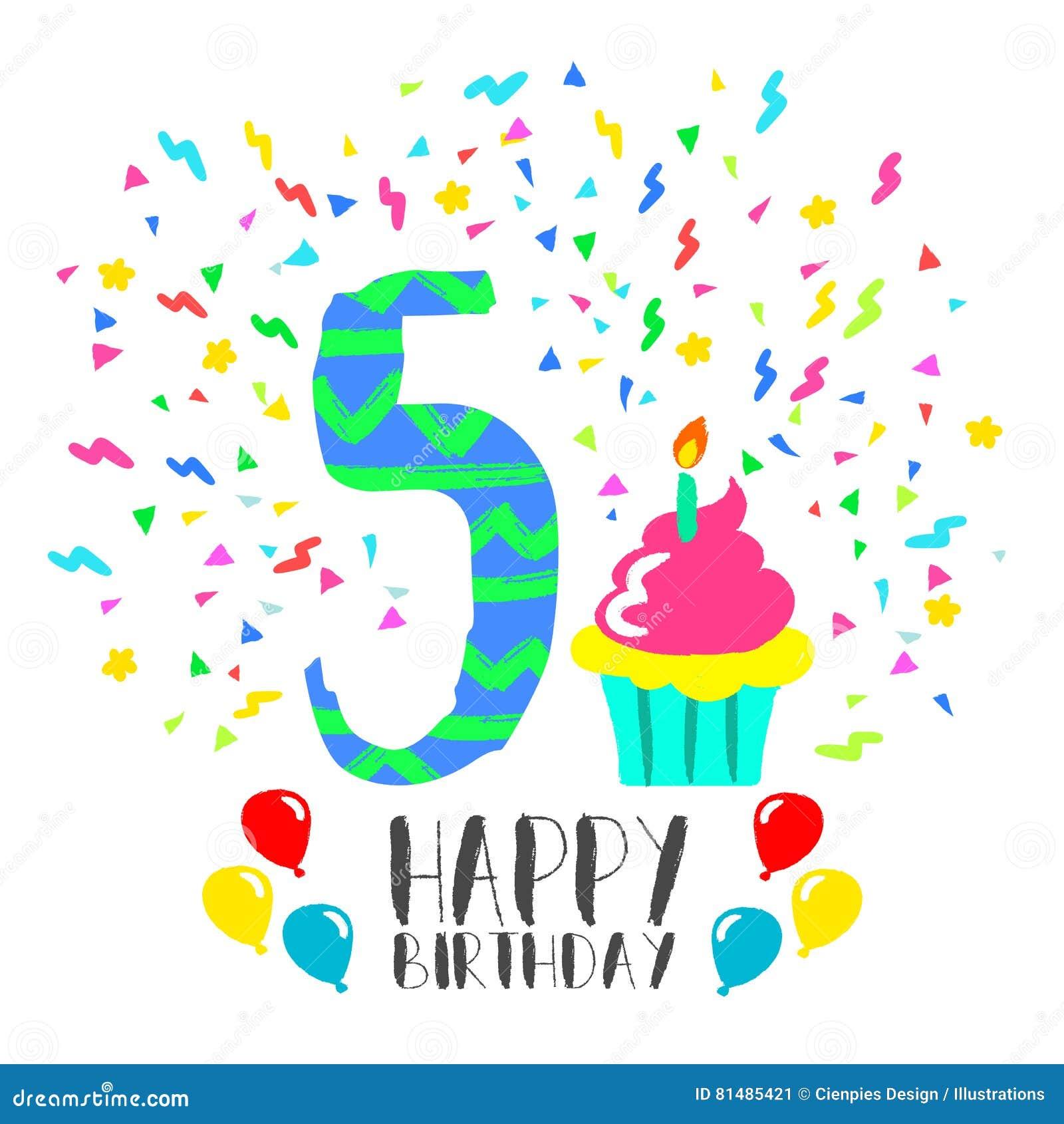 Molto Auguri Compleanno Bimba 5 Anni QG16 » Regardsdefemmes BN03