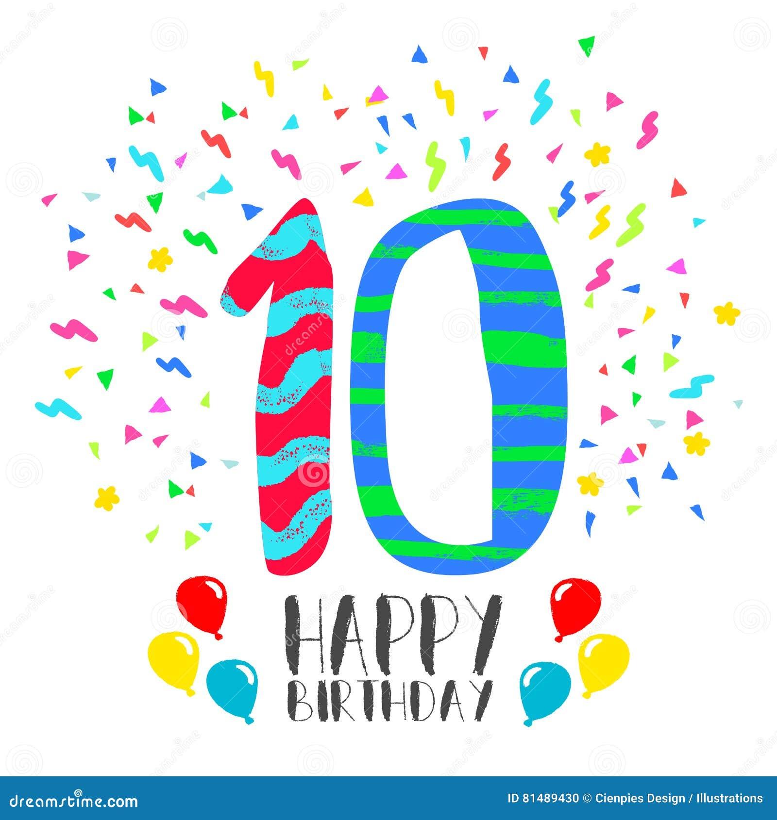 Biglietti Auguri Compleanno 10 Anni Da Stampare Parquetfloor