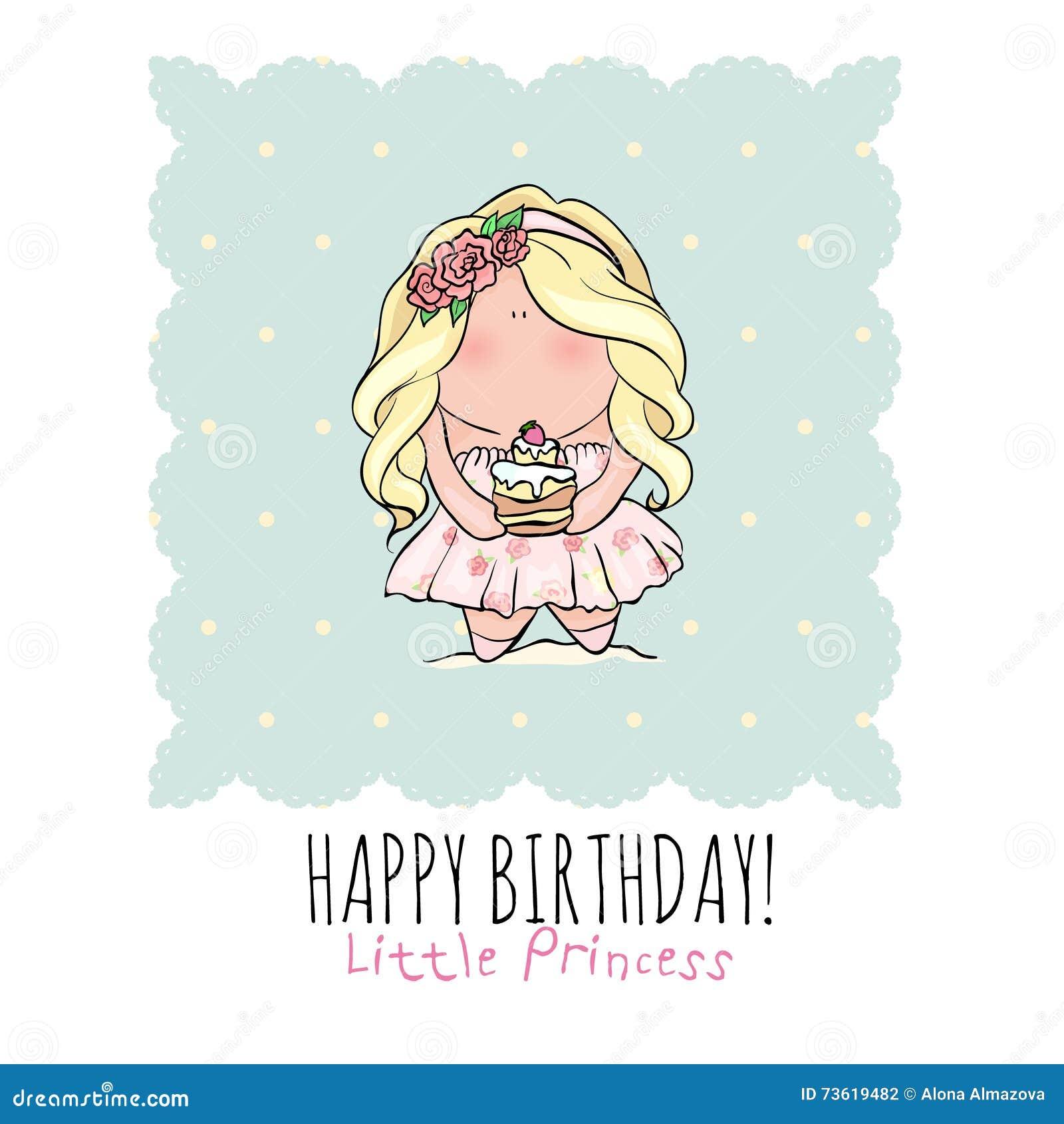Favorito Buon Compleanno, Piccola Principessa - Carta Di Festa Per La  UK61