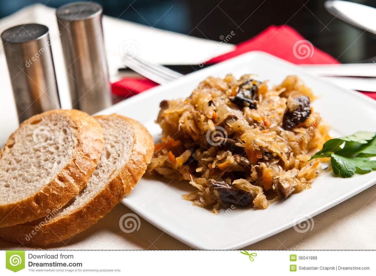 Bigos polish cuisine of cabbage food royalty free stock for Authentic polish cuisine