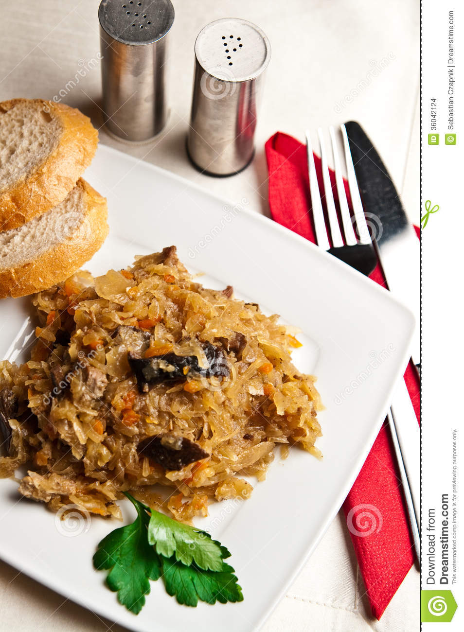 Bigos polish cuisine of cabbage food stock images for Authentic polish cuisine