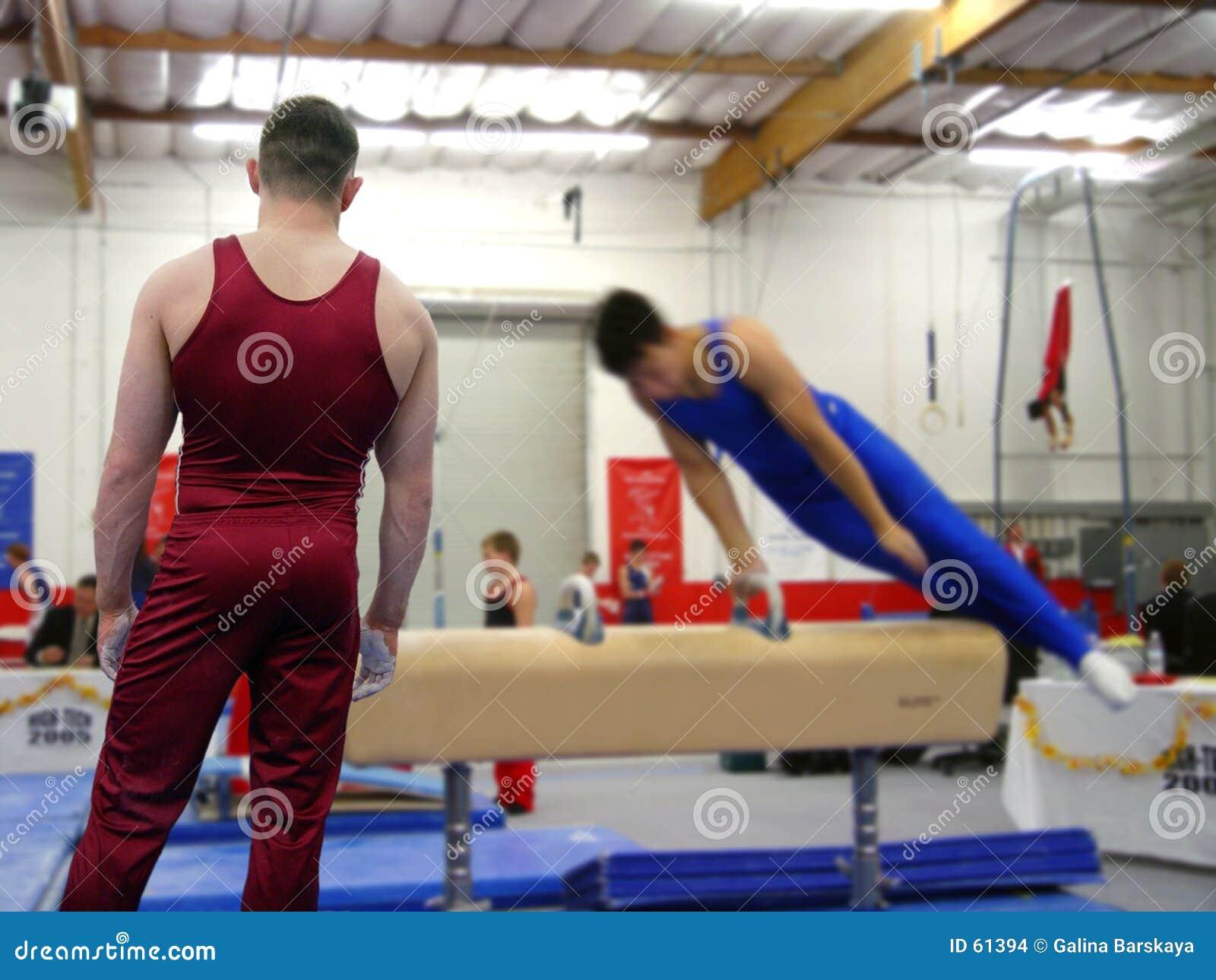 Bij de gymnastiek