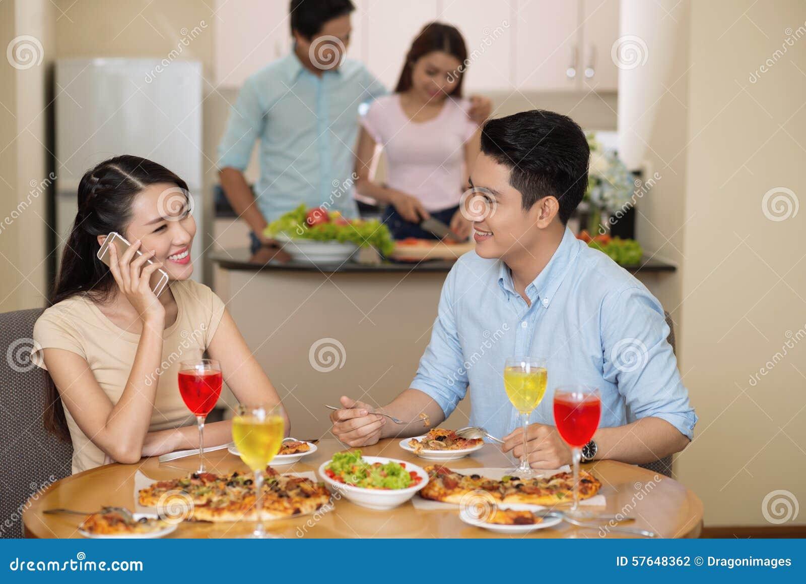 Bij het diner