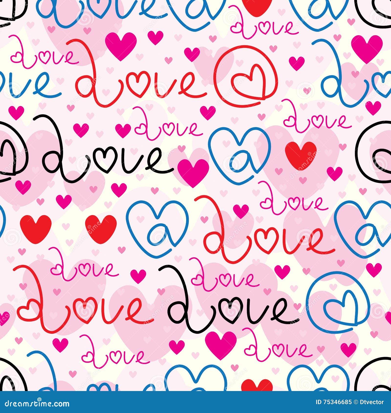 Bij het naadloze patroon van het liefdeteken