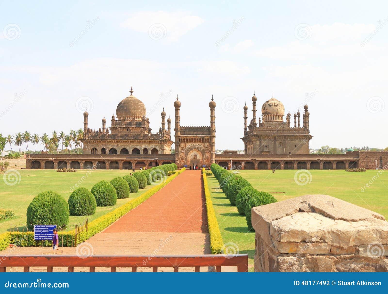 Bijapur la India de Ibrahim Rauza Mosque